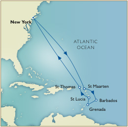 Caribbean  Route Map